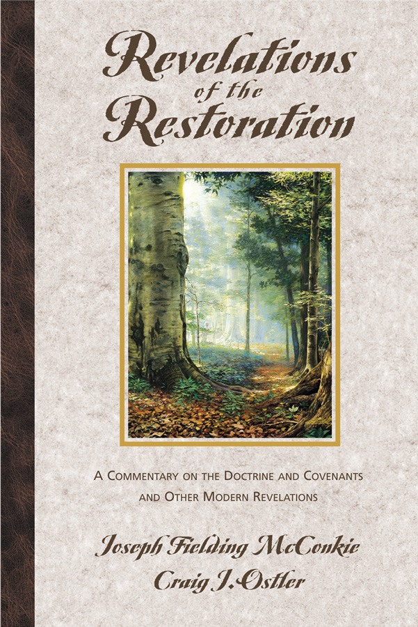 Revelation of restoration
