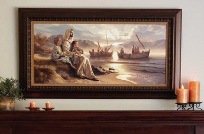 """Men of Galilee, 46"""" x 25"""""""
