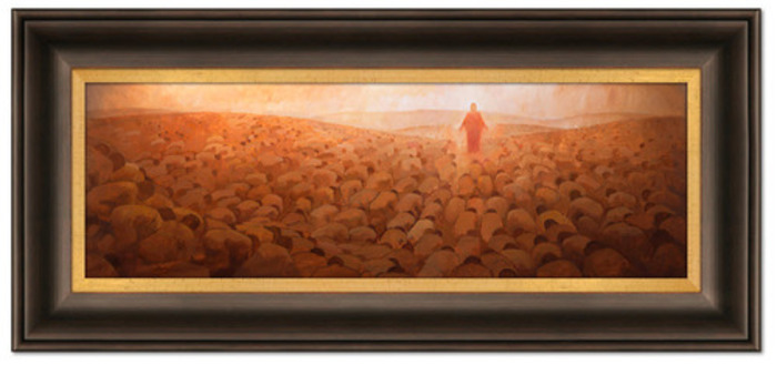 Every Knee Shall Bow (22x51 Framed Art)