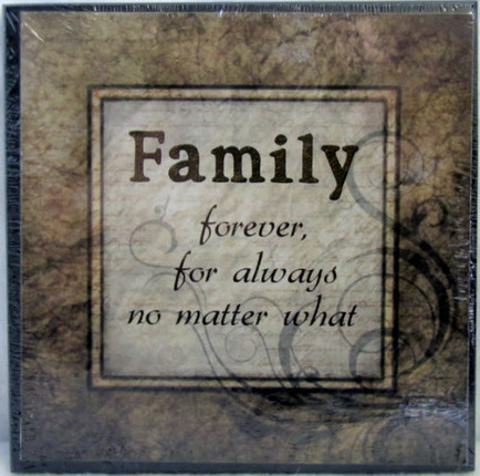 Family Forever For Always 5x5 Wall Decor Deseret Book