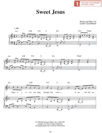 Sweet Jesus (Sheet Music)