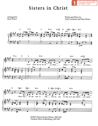 sisters in christ sheet music download - Sisters White Christmas Lyrics