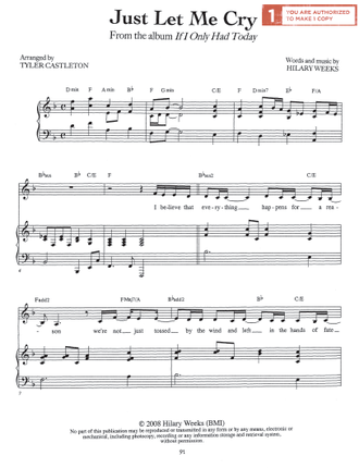 Just Let Me Cry Sheet Music Download Deseret Book