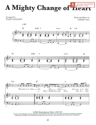 A Mighty Change of Heart (Sheet Music Download)