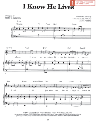I Know He Lives (Sheet Music Download)