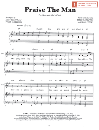 Praise the Man (Sheet Music Download) - Deseret Book