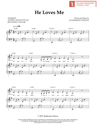 He Loves Me (Sheet Music Download)