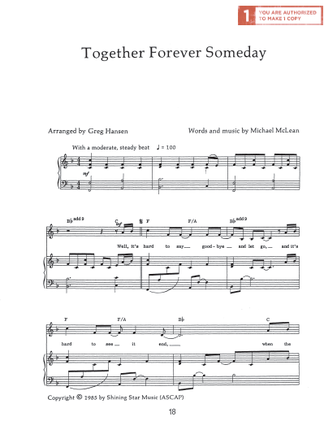 Together Forever Someday Sheet Music Download Deseret Book