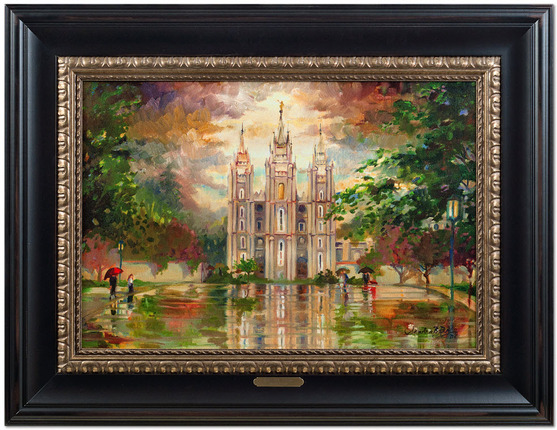 His Holy House (39x30 Framed Canvas)