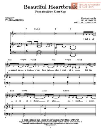 Beautiful Heartbreak (Sheet Music Download) - Deseret Book