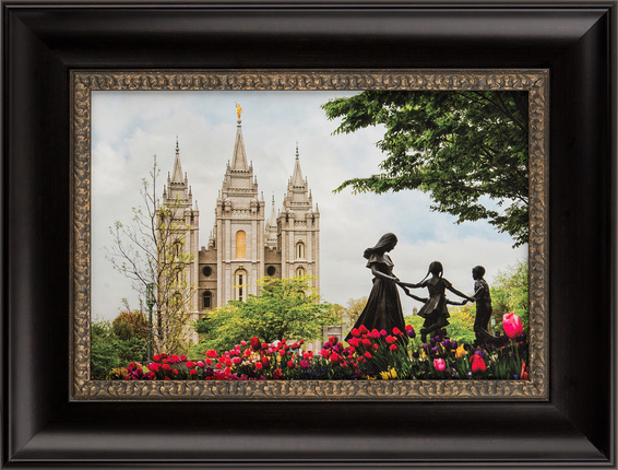 Salt Lake Temple Eternal (19x25 Framed Art) - Deseret Book