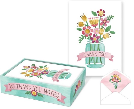 flower jar thank you notes by punch studio