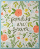 Families are forever wall hanging quilt cream