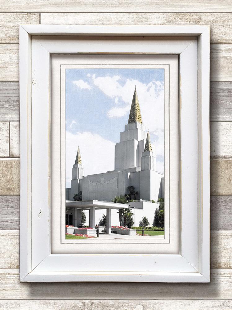 White Framed Oakland Temple (22x16 Framed Art) - Deseret Book