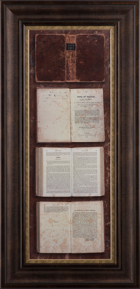 1830 Book Of Mormon Bound In Truth 46x22 Framed Art