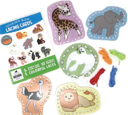 Noahs ark lacing cards