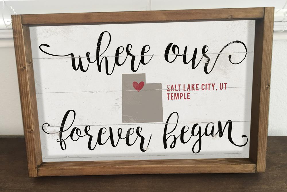 ea21760e16c5 Where Our Forever Began  Salt Lake Temple (12x18 Framed Art ...