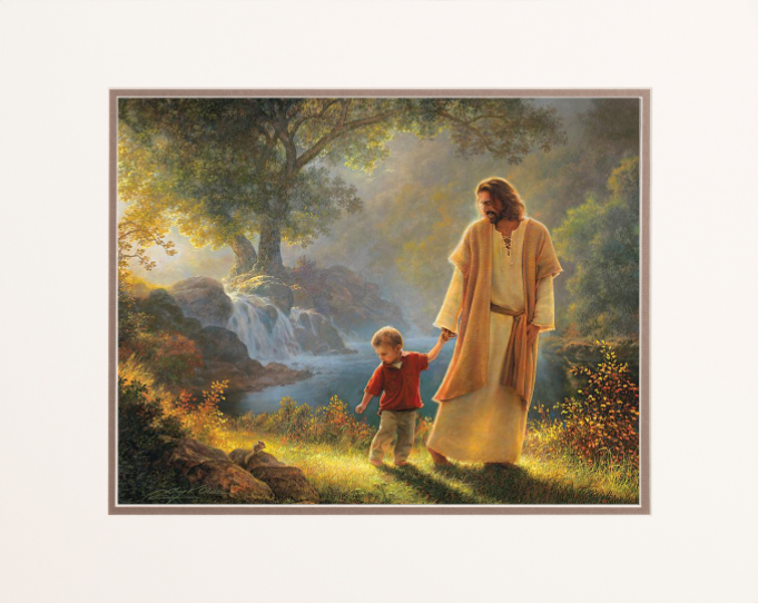 take my hand 16x20 matted print deseret book