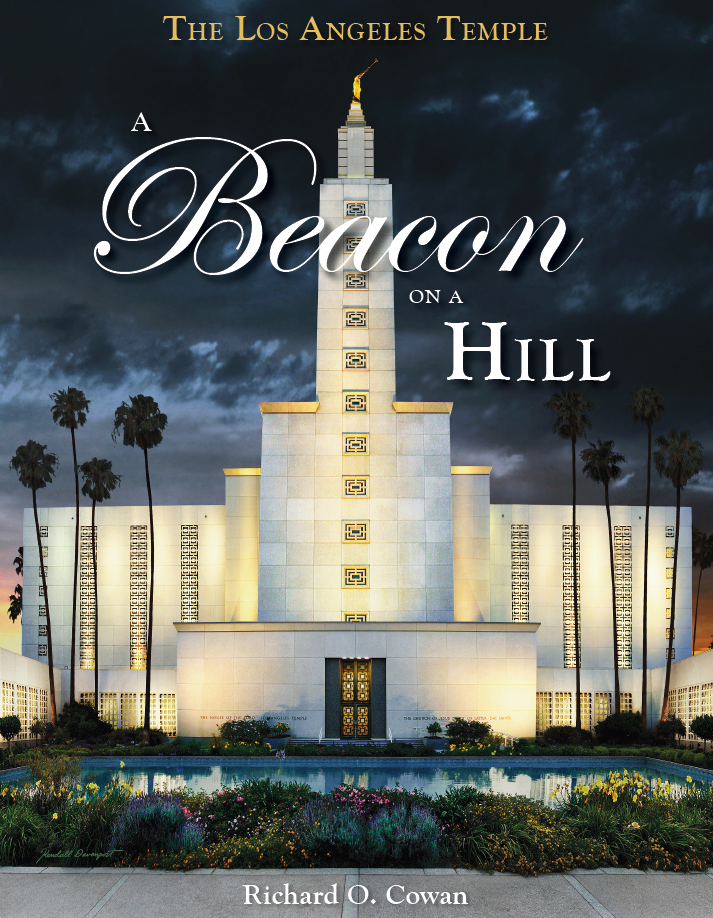 Los angeles temple beacon on a hill