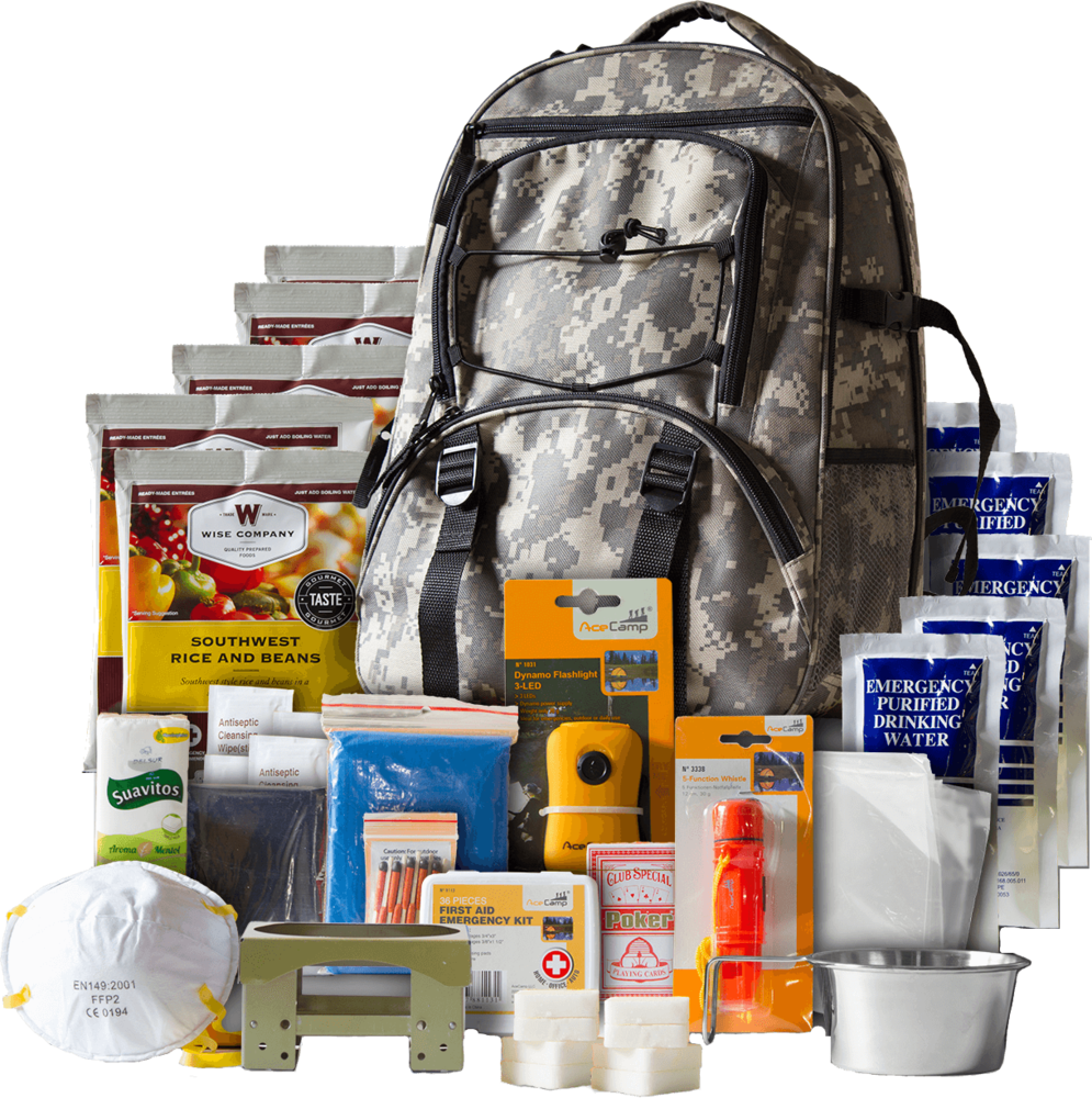 5 day camo survival backpack   wise company