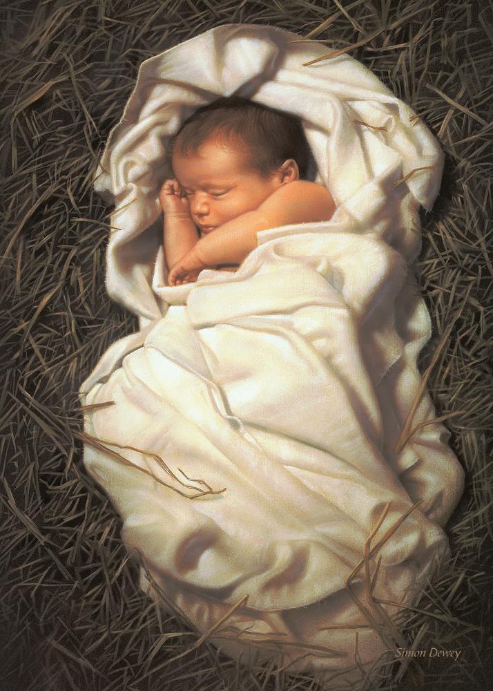 Simon dewey for unto us a child is born set card front