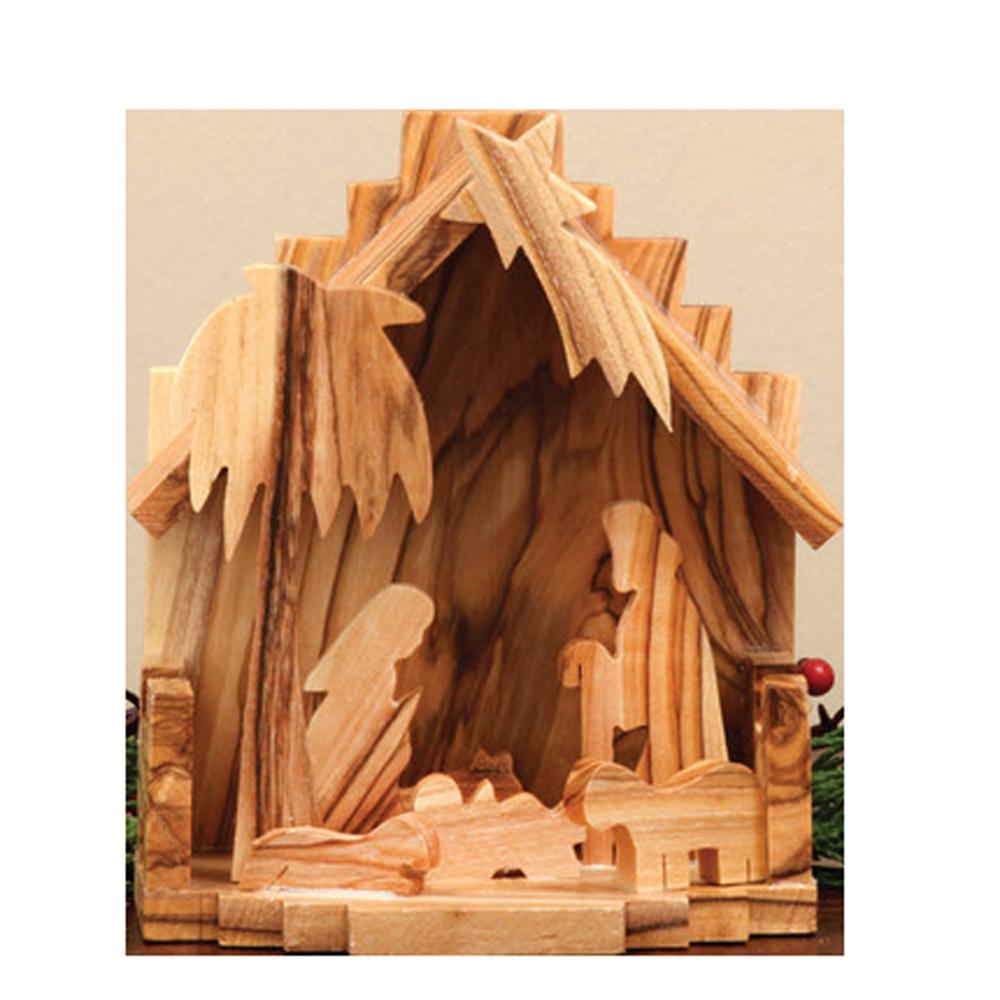 Olive wood jeurselum nativity