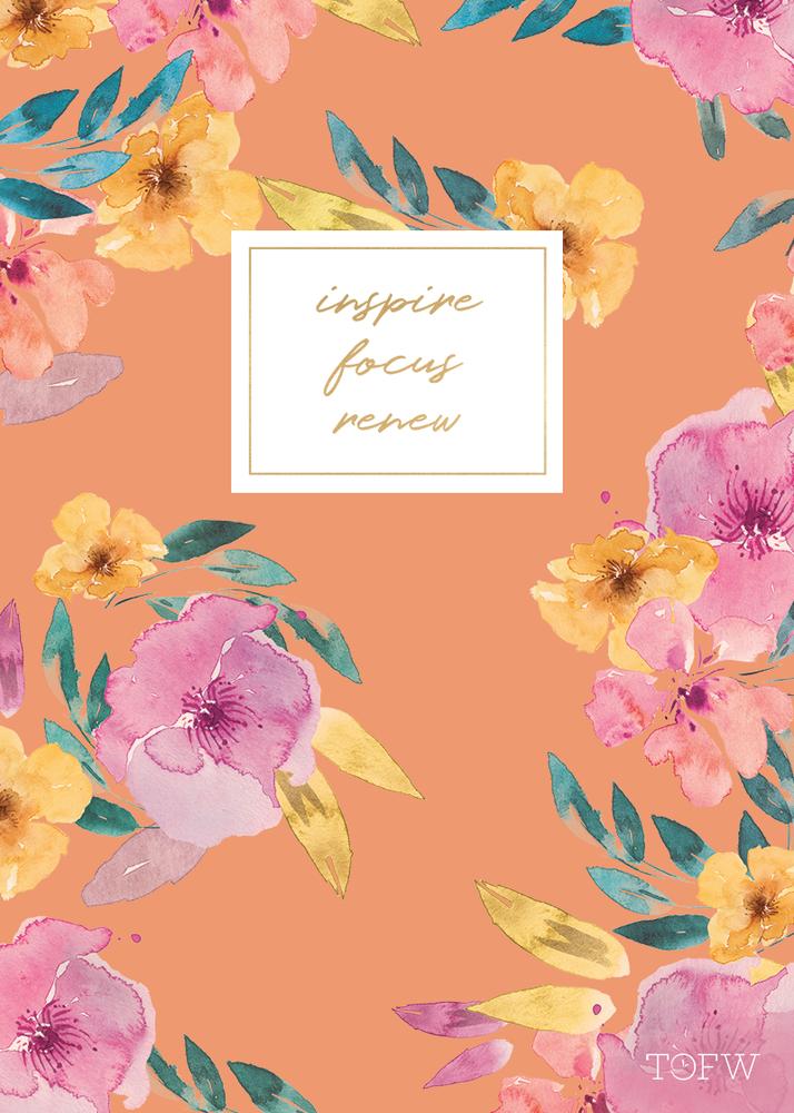 Tofw slim floral journal