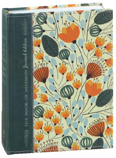 Book of mormon journal edition orange floral