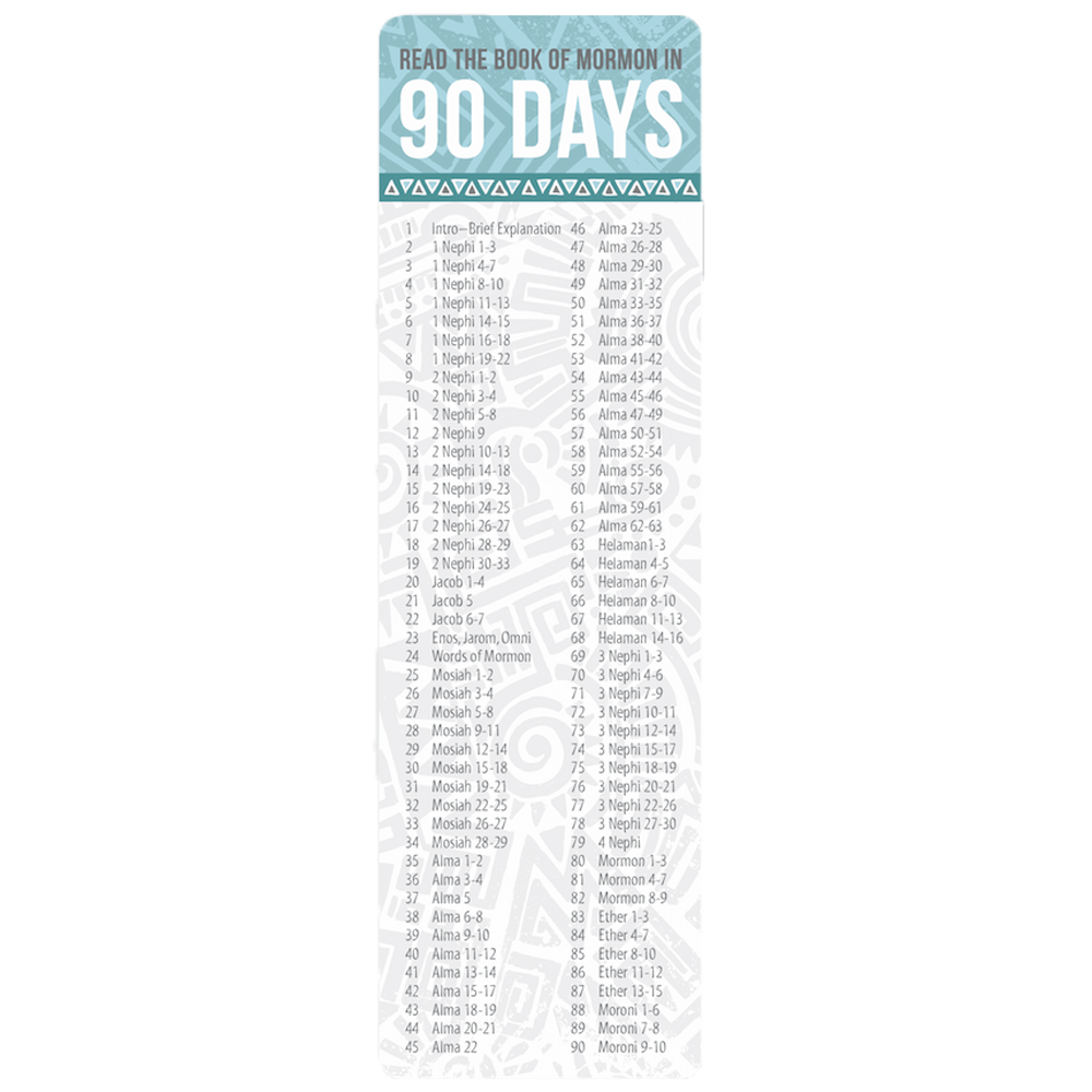 Book Of Mormon In 90 Days Bookmark