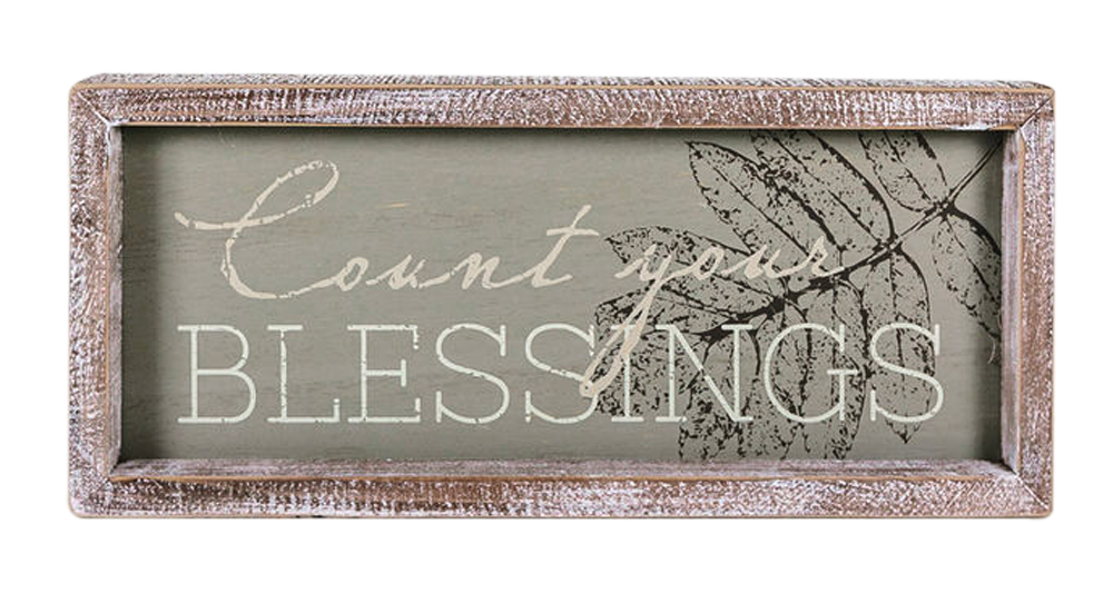 Count your blessings 13x6 plaque